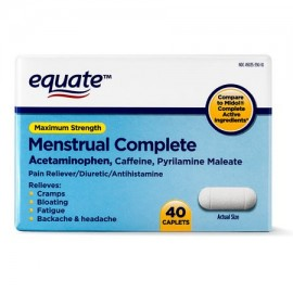 Equate Maximum Strength Menstrual Complete Pain Relief Caplets 40 Ct