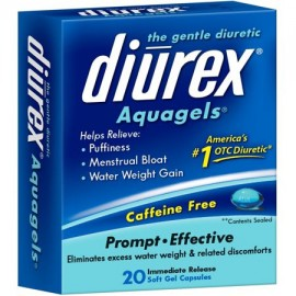 DIUREX The Gentle Diuretic Aquagels 20 ea (Pack of 3)