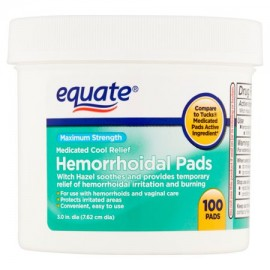 Equate Maximum Strength hemorroidal Pads 100 Ct