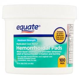 Equate Maximum Strength hemorroidal Pads 100 Ct