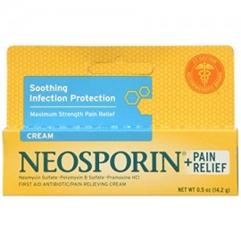 Neosporin Maximum Strength Antibiotic - Pain Relief Cream 0.5oz Each