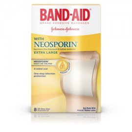 Tirita vendajes Brand con Neosporin Antibiótico Extra Grande 8 ct