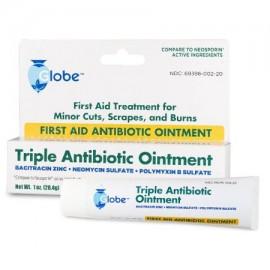 Tubo de primeros auxilios triple ungüento antibiótico 1 oz