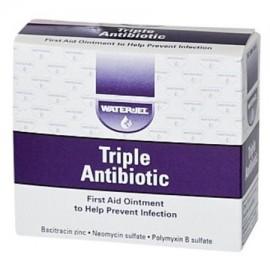 WaterJel - ungüento antibiótico triple de primeros auxilios 0.9gm de paquetes 125 paquetes