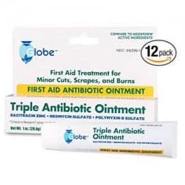 Primeros auxilios triple ungüento antibiótico 1 oz Tube-12 Paquete