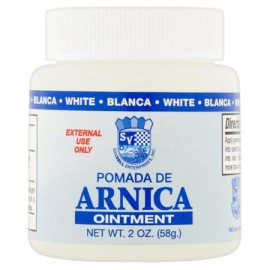 Sanvall Arnica White Ointment 2 ounce – Pomada de Arnica Blanco Topical Analgesic Pain Relief Remedy Sore Muscle Bruises Sprai