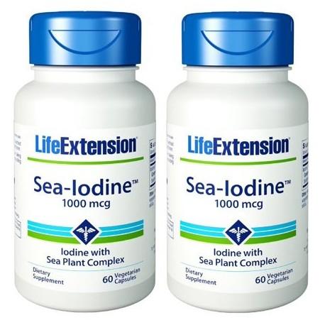 Life Extension Sea-yodo 1000 mcg 60 Cápsulas (Pack de 2)