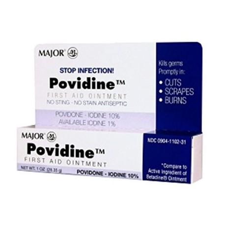 Major povidona yodada OINT povidona yodada-10% blancos 2835 GM UPC 309041102316