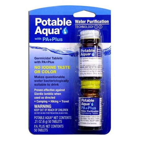 Potable aguamarina tabletas de purificaci/ón de agua con Pa Plus