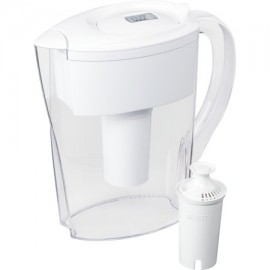 Brita Small 6 Cup Water Filter Pitcher with 1 Standard Filter BPA Free - Space Saver White