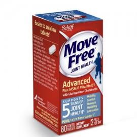 MOVE FREE Avanzado Plus MSM y la vitamina D3 80 conteo - Salud de las articulaciones Suplemento con glucosamina y condroitina