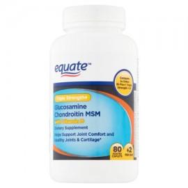 Equate glucosamina condroitina MSM suplemento dietético 80 Ct
