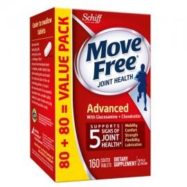 MOVE FREE Avanzada - Suplemento Salud de las articulaciones con glucosamina y condroitina 160 tabletas tabletas fáciles de trag