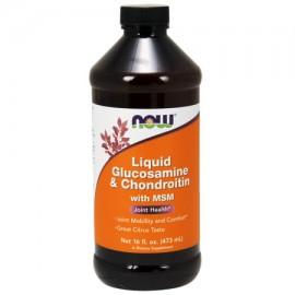 NOW La glucosamina y condroitina con MSM Líquido 16 onzas líquidas