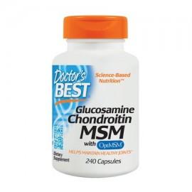 Doctor's Best La glucosamina condroitina MSM con OptiMSM Joint Support Non-GMO sin gluten soja libre 240 Caps