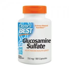Doctor's Best sulfato de glucosamina No-GMO sin gluten soja libre ayuda conjunta 750 mg 180 Caps
