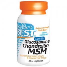 Doctor's Best La glucosamina condroitina MSM 360 CT