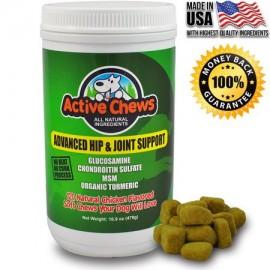 Active Chews Hip avanzada y articulaciones con glucosamina para perros 120 masticables