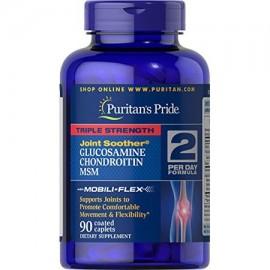 Puritan's Pride Fuerza Triple glucosamina condroitina y MSM Joint Chupete 90 cápsulas recubiertas