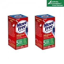(2 Pack) MOVE FREE Avanzado Plus MSM 120 tabletas - mixto de salud del suplemento con glucosamina y condroitina