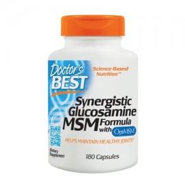 Doctor's Best sinérgica Glucosamina MSM con OptiMSM No-GMO sin gluten soja libre ayuda conjunta 180 Caps