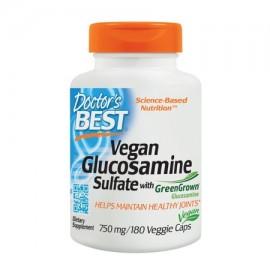 Doctor's Best vegano sulfato de glucosamina Joint Support Non-GMO vegano sin gluten soja libre 750 mg 180 caps Veggie