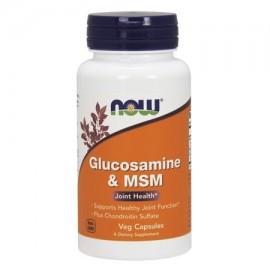 La glucosamina y el sulfato de condroitina MSM Plus NOW Alimentos 180 Cap Veg