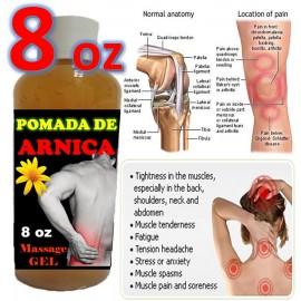 Pomada De Arnica (Arnica Ointment) 8 oz para los dolores contusiones esguinces
