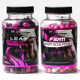 Fit Affinity Lean - esculpida Bundle - Quemador de Grasa para Mujeres • 90 cápsulas cada uno