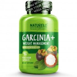 Naturelo Garcinia- - Fat Burner with Garcinia Cambogia Green Tea - Guarana