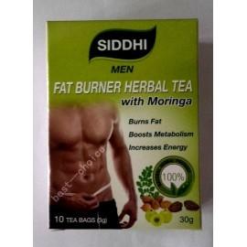 Té siddhi Hombres quemador de grasa a base de plantas con Moringa 10 bolsitas de té