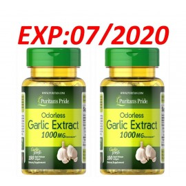 Odorless Garlic Extract 1000mg Cholesterol Health 200 Antioxidant Pills USA Made