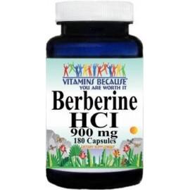 La berberina HCI 900 mg 180 Cápsulas depresión colesterol corazón
