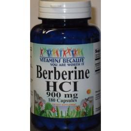 La berberina HCI 900 mg 180Caps depresión colesterol Corazón 180 Caps Suministro para 3 Meses