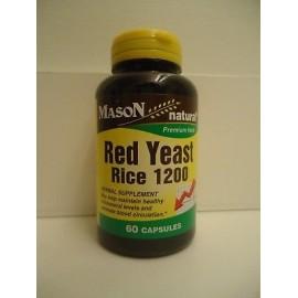 60 cápsulas arroz de levadura roja 1200 mg - 2 CAPS reducir el colesterol tapa 600 mg etiqueta antigua