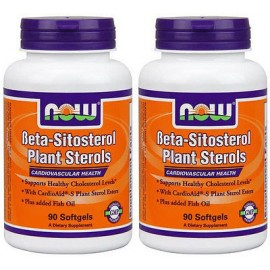 2-Pack de beta-sitosterol esteroles vegetales 90 sGels NOW Foods colesterol saludable