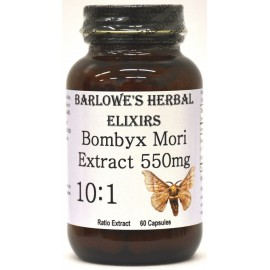 Bombyx mori EXTRAER 10- 1 - Buen Vasodilatador - Estearato gratuito embotellada en vidrio