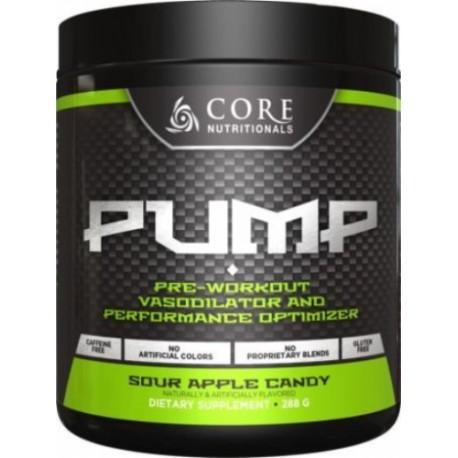 Core Nutritionals PUMP Pre-Entrenamiento Vasodilatador Polvo - Sour Apple de caramelo 282g por