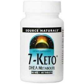 Source Naturals 7-Keto DHEA Metabolito 50 mg Compuesto 6 eficaz anti-envejecimiento ...