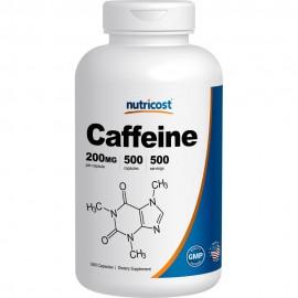 Nutricost pastillas de cafeína 500 500 Cápsulas Porciones de 200 mg por porción