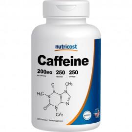Nutricost pastillas de cafeína 250 250 Cápsulas Porciones de 200 mg por porción
