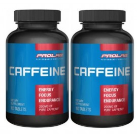 Prolab Cafeína 200 mg 100 tabletas Energía Enfoque Rendimiento Píldora Pack de 2