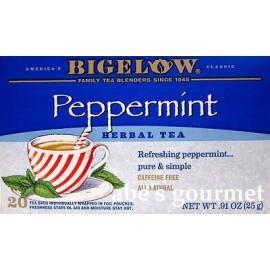 Bigelow La cafeína menta gratuito té de hierbas (2 Pack) 40 Bolsas total