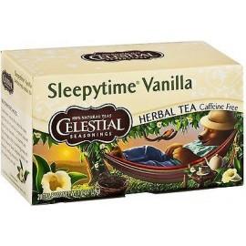 Celestial Seasonings libre de cafeína a base de plantas bolsitas de té vainilla Sleepytime 6pk 20 ea