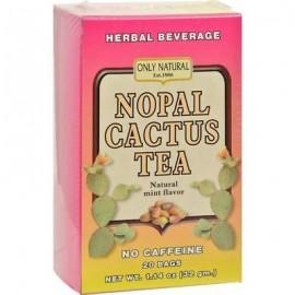 Only Natural - Nopal té sin cafeína natural de menta (2-1.14 cajas oz)