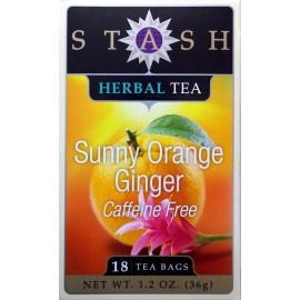 Stash Sunny Naranja Ginger libre de cafeína del té de hierbas (18 bolsa - caja) 2 Paquete (36 bolsas)