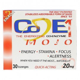 Co - E1 Las energizante Co-enzima Mojo 20 mg 30 Lozenges cafeína-libres y descafeinado