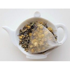 Sereno té de hierbas (sin cafeína) en la pirámide bolsitas