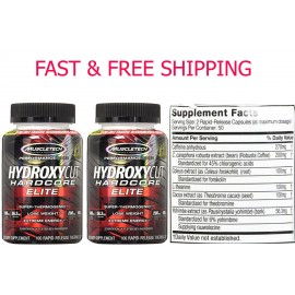 Muscletech Hydroxycut Elite Super Weight Loss Supplement 100 Count 2 Bottles New