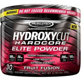 Hydroxycut Hardcore Elite Powder Fruit Fusion 30 Servings 72 Grams